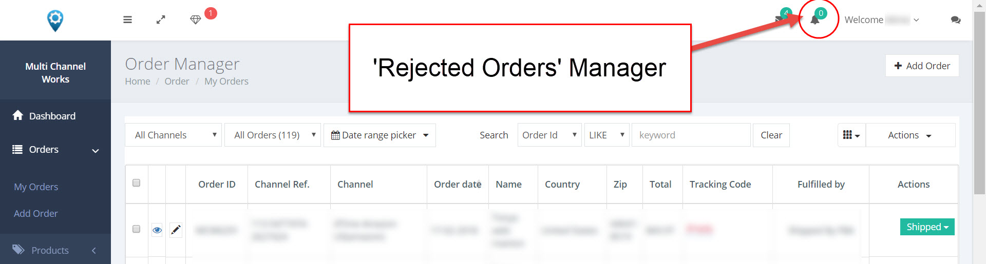 fix orders button